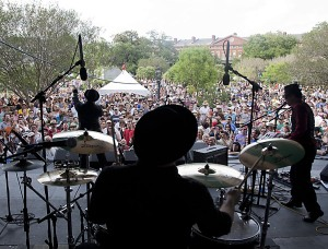 Jackson Square transformed into concert venue. (Source: Zack Smith)