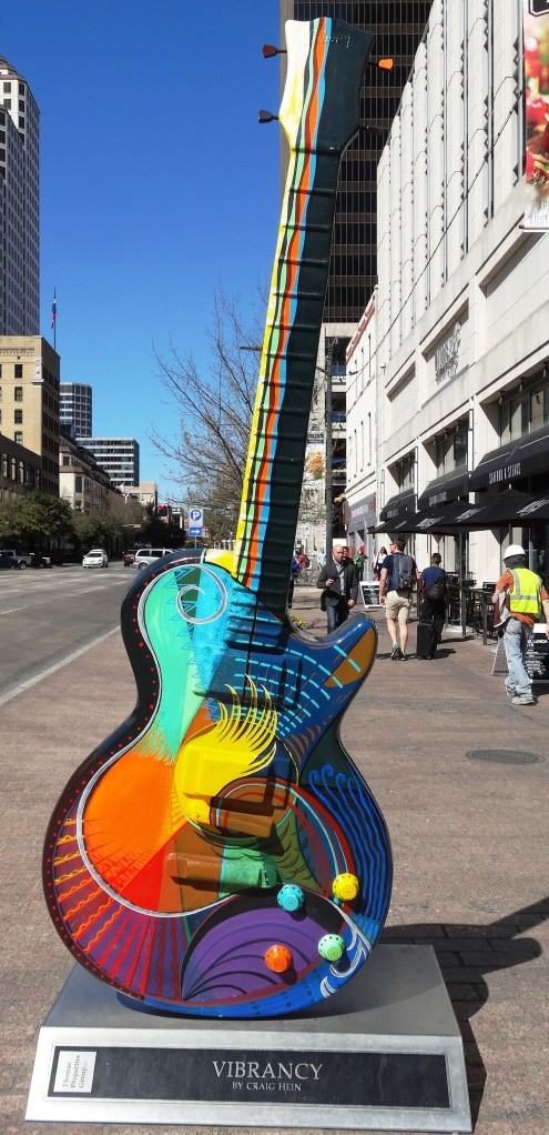 One of many guitar art installations downtown.