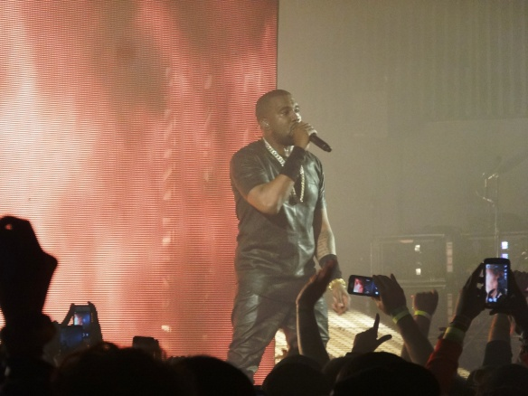 Kanye West stuns the crowd with his showmanship.